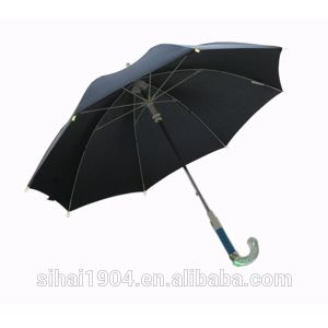 Fashion Safety Glow in the Dark Manual Open Handle LED Light Rain Straight Umbrellas for Advertisement