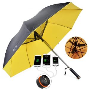 Cost-effective Fan Umbrella With USB Charger
