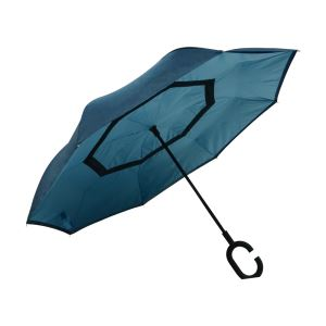 BSCI Factory Latest OEM Double Layer Inverted Opening Upside-down Umbrellas