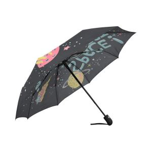 Cute Space Cat Universe Planet Rain And Sun Windproof Automatic Folding Umbrella