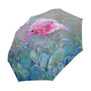 Large Windproof Sun&Rain Compact Foldable Women Swan Umbrella