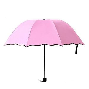 Manual Compact Folding Travel Strong Windproof Color Change Umbrella